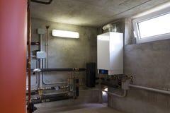 凝聚的燃气锅炉 库存照片