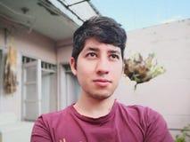 凝视哥伦比亚的青少年看和 免版税库存照片