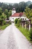 凝视的Hory教会从15世纪在斯洛伐克 免版税库存图片
