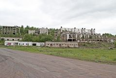 几个老被毁坏的,被放弃的大厦 库存图片