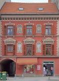 几乎修建有有趣的门面的城镇厅在马里博尔 免版税库存照片
