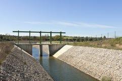 水转换运河 免版税库存图片
