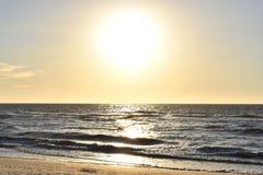 几乎在Clearwater海滩的日落 免版税库存照片