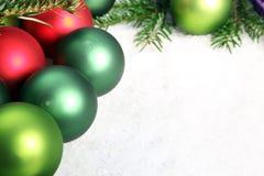几件圣诞节装饰品 图库摄影