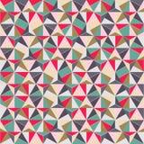 几何三角形状无缝的模式 免版税库存照片
