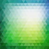 几何三角形状的减速火箭的马赛克样式 免版税库存照片