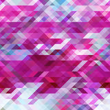 几何三角摘要紫罗兰色马赛克背景,紫色样式 免版税库存图片
