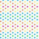 几何三角无缝的传染媒介样式 免版税库存图片
