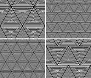 几何三角无缝的样式集合 向量例证