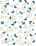 几何三角无缝的样式 库存照片