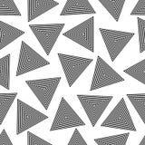 几何三角无缝的样式 皇族释放例证