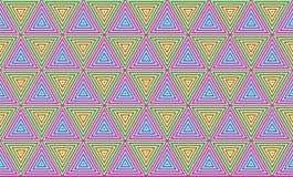 几何三角样式无缝的背景墙纸 免版税图库摄影