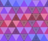 几何三角紫色无缝的样式 向量例证