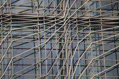 几何上现代办公楼建筑背景  图库摄影