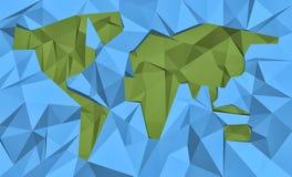 几何世界地图 免版税库存照片