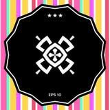 几何东方样式 徽标 您设计的要素 免版税库存图片