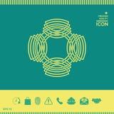 几何东方阿拉伯样式 徽标 您设计的要素 免版税库存照片