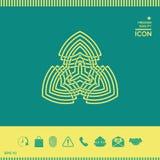 几何东方阿拉伯样式 徽标 免版税库存照片