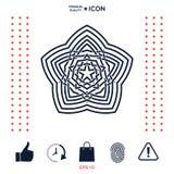 几何东方阿拉伯样式 您设计的要素 徽标 库存照片
