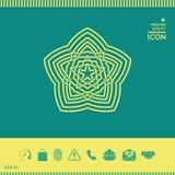 几何东方阿拉伯样式 您设计的要素 徽标 免版税库存照片