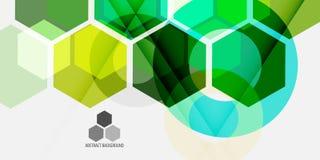 几何五颜六色的抽象背景模板设计 皇族释放例证