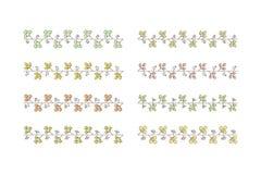 几何五颜六色的无缝的电刷组 库存图片
