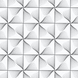 几何传染媒介样式重复在正方形的半线性叶子和金刚石塑造 免版税库存照片