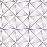 几何传染媒介样式重复在正方形的半线性叶子和金刚石塑造 库存照片