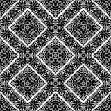 几何传染媒介黑白色样式的设计 免版税库存图片