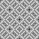 几何传染媒介黑白色样式的设计 图库摄影