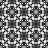 几何传染媒介黑白色样式的设计 库存照片