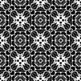 几何传染媒介黑白色样式的设计 库存图片