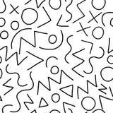 几何传染媒介样式孟菲斯样式 库存图片