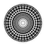 黑几何传染媒介样式装饰品 库存图片
