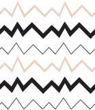 几何例证模式无缝的向量 之字形 裸体颜色 图库摄影