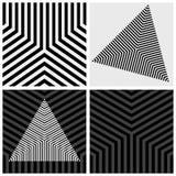 几何元素集 镶边纹理 库存照片