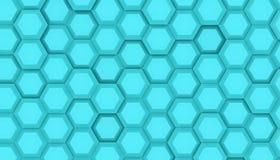 几何六角形表面例证设计  挥动的hexagones的网格图形 深蓝颜色3D翻译 皇族释放例证