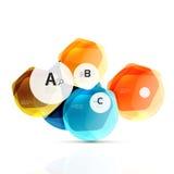 几何六角形水色元素 免版税库存照片