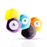 几何六角形水色元素 免版税图库摄影