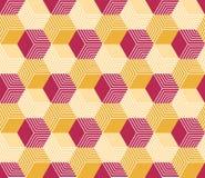 几何六角样式 库存例证