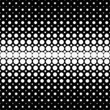 几何半音光点图形背景-从圈子的向量图形在黑背景 免版税库存图片