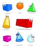 几何固体 库存图片