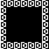 几何图片,照片框架以似方形的格式 库存例证