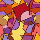 几何图的无缝的样式 库存照片