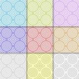 几何圆形无缝的样式 圈子和菱形 皇族释放例证