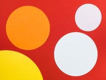 几何圆的圈子的五颜六色的样式 免版税图库摄影