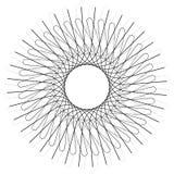 几何圈子元素,圈子主题任意锋利,有角线 库存例证