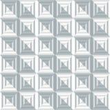 几何在方形的形状- Illustr的样式无缝的背景 免版税库存图片