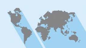几何地图世界 库存图片