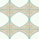 几何壁角框架样式种族瓦片五颜六色的背景v 免版税库存图片